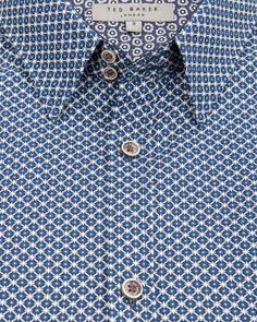 Geo print shirt - Blue | Shirts | Ted Baker UK www.MadamPaloozaEmporium.com www.facebook.com/MadamPalooza