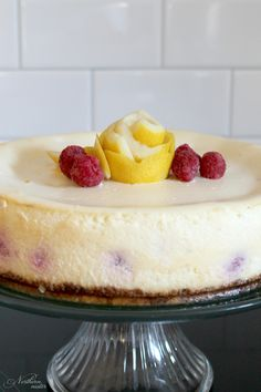 This Raspberry Lemon Cheesecake is a creamy, fruity flavored dessert that's not too sweet and not too sour. A lovely low-carb, gluten-free, THM S treat.