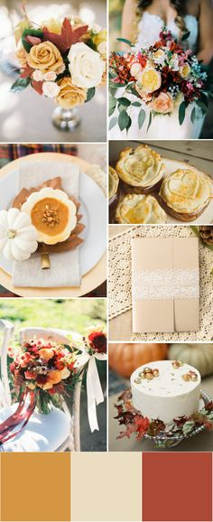 fall rustic yellow wedding color palette ideas