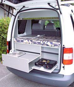 caddy camp bett innenausbau caddy pinterest bus. Black Bedroom Furniture Sets. Home Design Ideas
