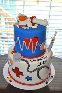 Nurse cake! For when Amanda finishes her nursing program!  I didn't even put my name in the above comment someone else did when they pinned it and look at that. Its a sign!!