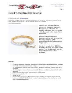 Seed Bead and Crystal Bracelet Pattern Best Friend by JewelryTales