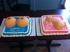 Penis and boob cake Matching Bachelorette n bachelor cake