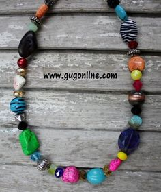 Fun Multi Necklaces $20.00-$60.00 www.gugonline.com