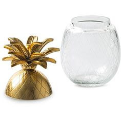 Pineapple Gold U0026 Glass Storage Box