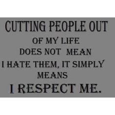 I respect me.