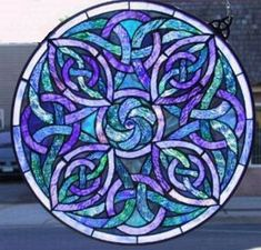 Stained Glass - Celtic Knot Circle (56 pieces)