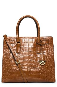af5ae7daa7ae85 MICHAEL Michael Kors 'Dillon - Large' Croc Embossed Leather Tote | Nordstrom