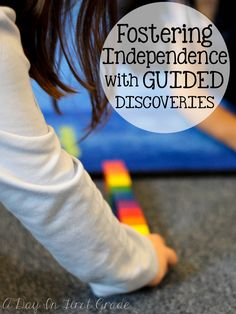 Using guided discoveries to help foster independence in your kindergarteners!
