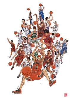 Slam Dunk by Takehiko Inoue Manga Art, Anime Art, Slam Dunk Manga, Inoue Takehiko, Nba Wallpapers, Mecha Anime, Figuarts, Sports Art, Gintama