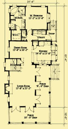 Architectural House Plans : Floor Plan Details : Side Entry Charleston Classic