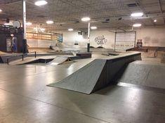 Garage Loft, Skate Park, Warehouse, Corner Desk, City, Interior, Image, Furniture, Home Decor