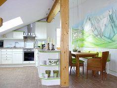Fantastic attic kitchen!