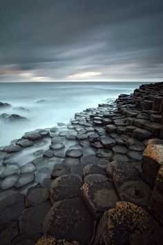 The Giant's Causeway in County Antrim on the northeast coast of Northern Ireland and declared a World Heritage Site by UNESCO in 1986.