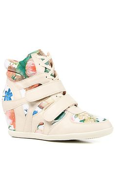 The Alana Sneaker Wedge in Floral Multi