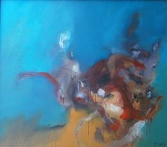"Artist denise davis; Painting, ""Dog Fight"""