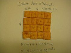 Use Cheeze-Its to Teach Area and Perimeter