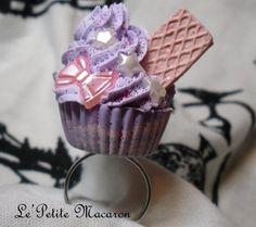 $5.00 Sweet Lolita Cupcake Ring 39 Lavender Star