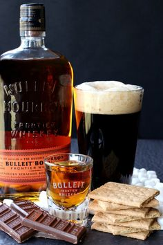This S'more Porter Boilermaker cocktail makes happy hour fun!