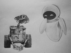 Wall-E and Eve by hglucky13 I want this tattooed on me so badly