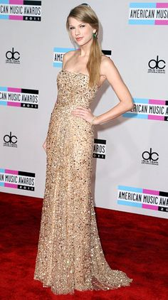 Taylor Swift's Sparkly Sequin Dresses: Reem Acra~ I've got to have this reem Acra dress please thanks