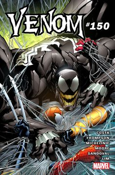 Venom Returns to Legacy Numbering with Eddie Brock's Return in Oversized Issue #150  The newly launched Venom series from Marvel Comics will be returning to legacy numbering this May for Issue #150.   Venom #150 cover by Gerardo Sandoval. (Marvel Comics)  The issue will be oversized include backup stories and see original Venom host Eddie Brock take back the symbiote meaning that current host Lee Price will part ways with the suit he only just got. But according to Marvel editor Devin Lewis…