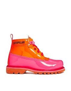 ... caterpillar boots pink ...