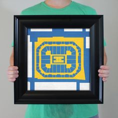 Pauley Pavilion Map Art - University of California at Los Angeles in Los Angeles, California.   College basketball arena City Prints are for those who feel the madness, not just in March, but year round. City Prints look like modern art and remind you of the unforgettable moments you experienced in your favorite seats – they are truly the perfect personalized gift.