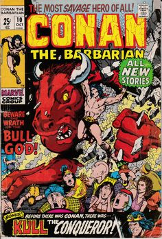 Conan The Barbarian 10 October 1971 Issue  Marvel by ViewObscura