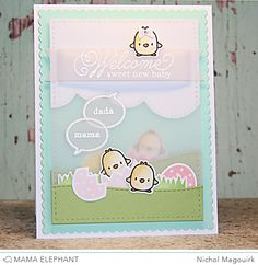 Just Hatched Stamp Set and Just Hatched Creative Cuts craft dies—Mama Elephant