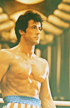 Rocky Balboa  Sylvester Stallone. The movies are enough to motivate me!
