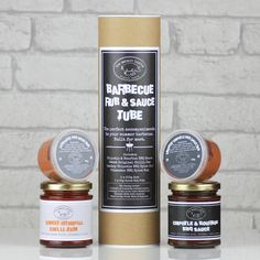 Our Barbecue Rub and Sauce Tube is everything you need for your summer barbecue. <strong>Add a personalised gift tag to make this item the perfect gift. (Select 'Yes Please' from the dropdown.)</strong>Specially selected artisan chilli jam, sauces and spices for the lover of all things barbecue. This tube contains the following two jars and two spice rub pots... 1. Chipotle and Bourbon Bbq Sauce 200g 2. Sweet Original Chilli Jam 200g 3. Pitmaster Bbq Spice Rub 50g (Winner National Chilli…