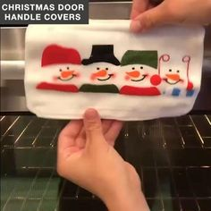 Is it time to decorate your home for Christmas? Now you can add a festive touch to your home with this Christmas Door Handle Covers(1set). Now available 70%OFF with Free Shipping!! Only on neulons.com Christmas Sewing, Christmas Door, Simple Christmas, Christmas Stockings, Christmas Holidays, Christmas Patchwork, Snowman Christmas Decorations, Christmas Snowman, Christmas Ornaments