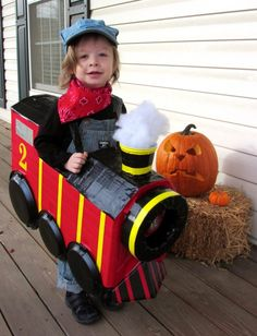train costume made with dollar store items
