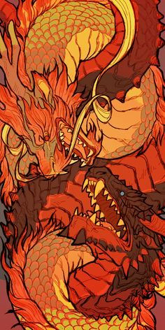 Element Is Your Inner Dragon? Fire-drakes or Uruloki are a type of Dragon in Middle-earth. They are very…Fire-drakes or Uruloki are a type of Dragon in Middle-earth. Fire Dragon, Dragon Art, Mythological Creatures, Mythical Creatures, Fantasy Dragon, Fantasy Art, Creature Design, Japanese Art, Art Inspo