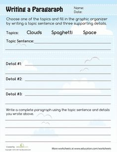 Worksheet Third Grade Writing Worksheets workshop paragraph and worksheets on pinterest writing