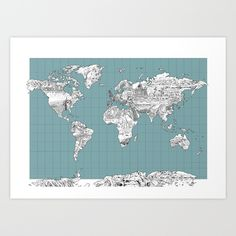 Interactive Travel Map World Map Poster Pin Country Travels With - High quality world map poster