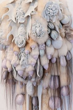 Ceramic Sculptor Juz Kitson: Death Makes All Equal Saggy, heavy bulbous growths sprouting hair and antlers in earthy colors or muted pastels are a signature look in Juz Kitson's sculptures and installations.