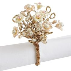 Romantic Elegance Beaded Napkin Ring