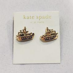 Gold ship earrings Kate spade studs posts Like new condition. kate spade Jewelry Earrings