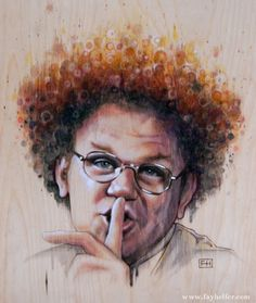 Steve Brule (Shhh) by Fay Helfer Tim & Eric, Perfect World, For Your Health, Pyrography, Wood Print, Make Me Smile, Art Photography, Original Art, My Arts