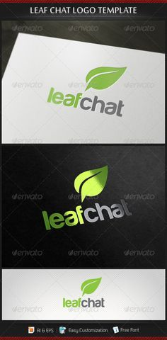 Leaf Chat Logo Template — Vector EPS #premium #forum • Available here → https://graphicriver.net/item/leaf-chat-logo-template/3182112?ref=pxcr
