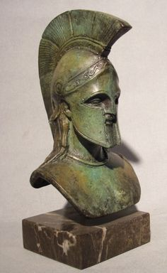 Bronze head of Leonidas - Known for holding the pass of Thermopylae for 2 days, with only 300 men, against the invading Persian army, Leonidas was the King of Sparta.