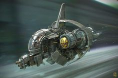 Launch Picture sci-fi, spaceship, picture, image, digital art) by Damian Buzugbe Spaceship Art, Spaceship Design, Spaceship Concept, Concept Ships, Concept Art, Aliens, Cyberpunk, Sci Fi Spaceships, Space Engineers