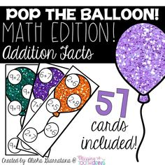, Pop The Balloon! Addition Facts Math Game , Pop The Balloon! is a fun and engaging game that originally began as a way to begin guided reading groups. Now, it can be a fun and engaging way for y. Guided Reading Level Chart, Guided Math Groups, Guided Reading Lesson Plans, Math Addition Games, Addition Facts, Reading Games, Reading Groups, Guided Reading Organization, Phonics Cards