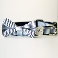 Seersucker Bow Tie Collar!!  Yes!!