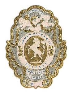 antique french perfume label (paris)
