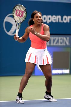 Serena Williams attends Arthur Ashe Kids Day 2015 at the US Open at USTA Billie Jean King National Tennis Center on August 2015 in New York City. Serena Williams Quotes, Serena Williams Tennis, Venus And Serena Williams, West Palm Beach, Steffi Graf, American Athletes, Female Athletes, Angeles, Costumes