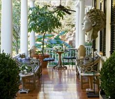 front porch living...... Charleston style
