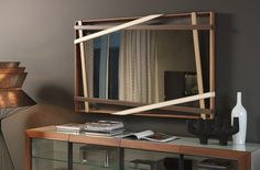 Wall-mounted mirror REBUS By Cattelan Italia design Andrea Lucatello Mirror Room, Wall Mounted Mirror, Tv Stand Room Divider, Bed Design, House Design, Contemporary Tv Stands, Italia Design, Bathroom Interior Design, Decoration
